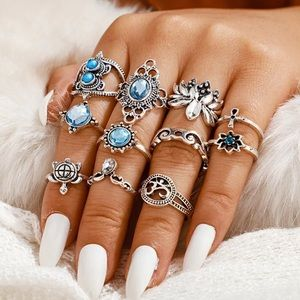 ARRIVED! 11 Piece Sea Queen Midi Ring Set
